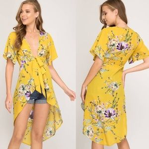 She and Sky Dresses - ⭐️ 5 Star Rated ⭐️ Floral Hi Low Duster Maxi Top